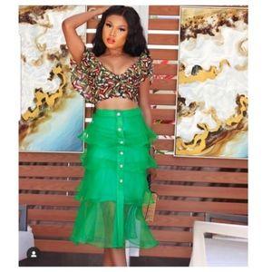 Zara Green Skirt organizes skirt (3087) M